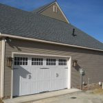 Close view of garage doors