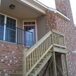 Rear steps and back door.