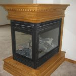 The Laurel three-sided prefab gas fireplace