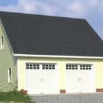 Detached Garage with Custom Doors