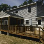 The Savannah rear covered porch and deck