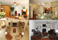 living rooms collage